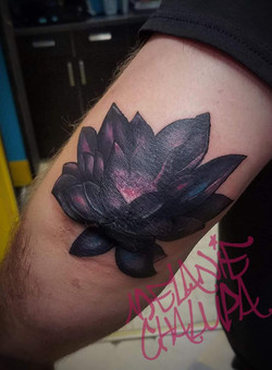 Black Lotus on Elbow_ Colored_ Nerd Art,