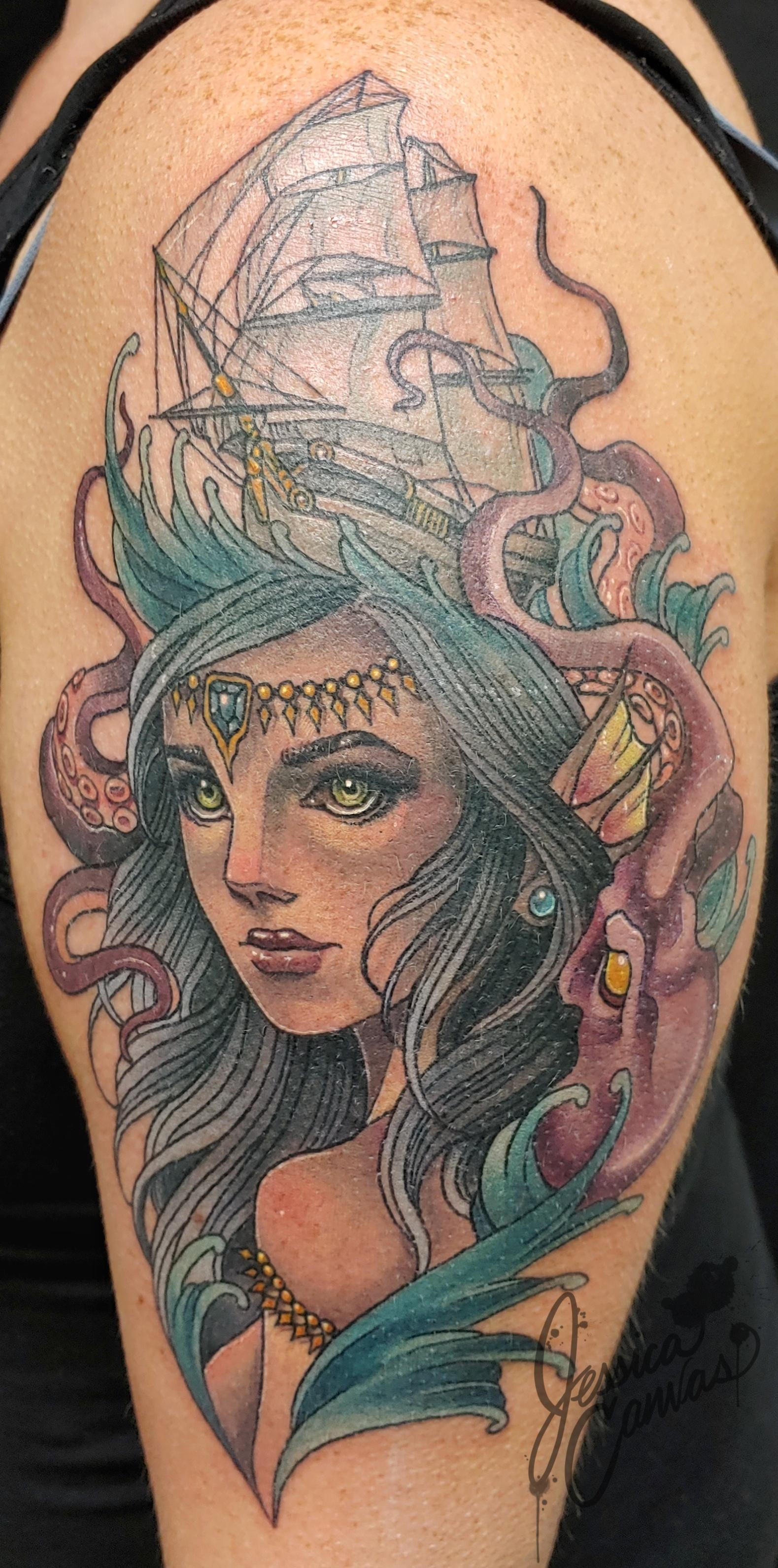 Sacred Siren Shipwreck Octopus