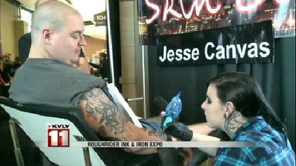 Roughrider Ink & Iron Expo - Jessica Canvas