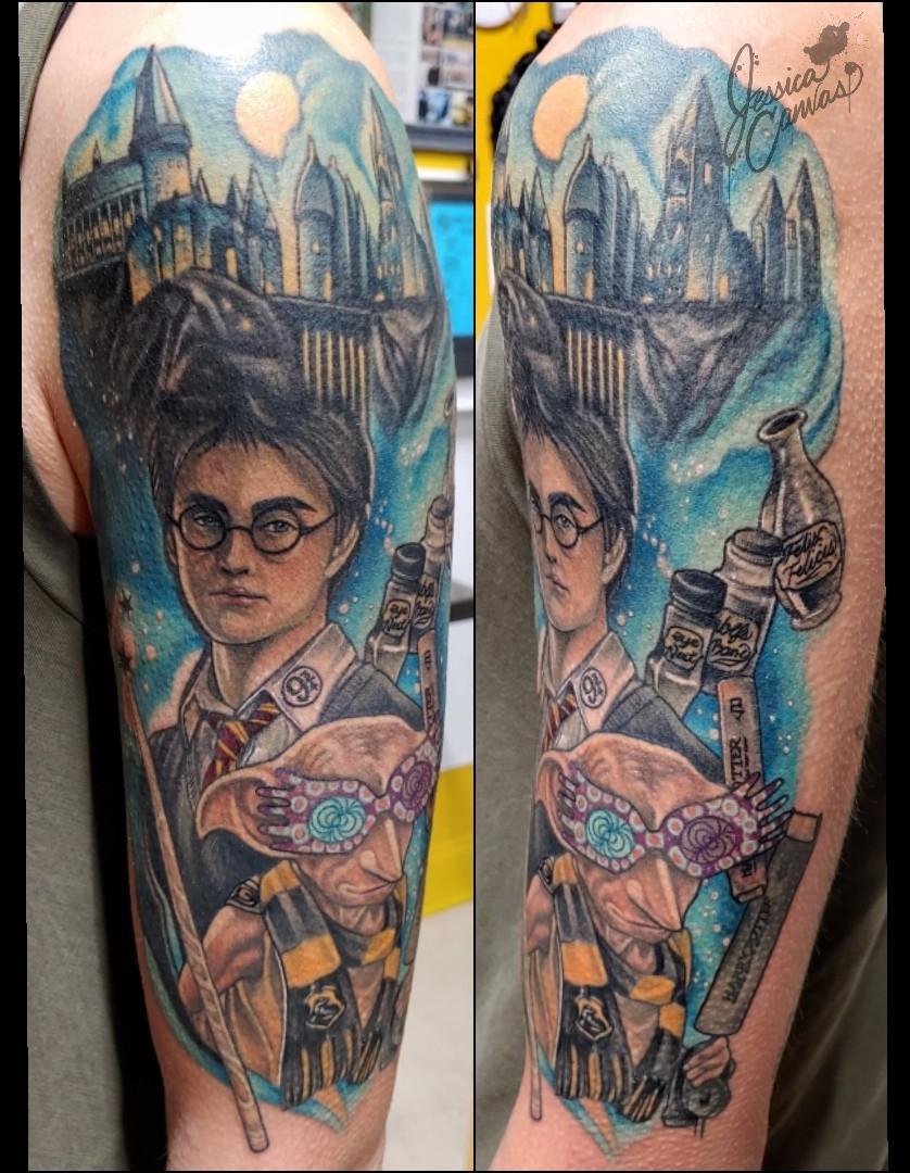 Harry Potter Half Sleeve Donny Hufflepuf