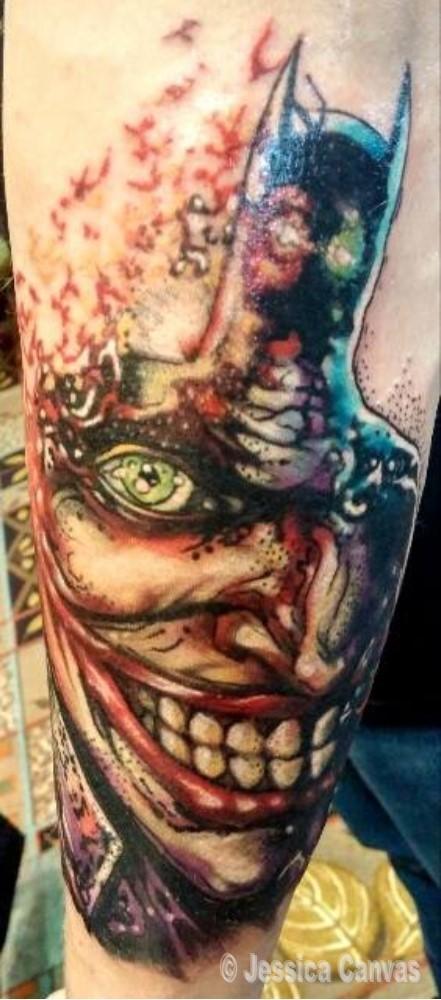 Abstract Joker Batman