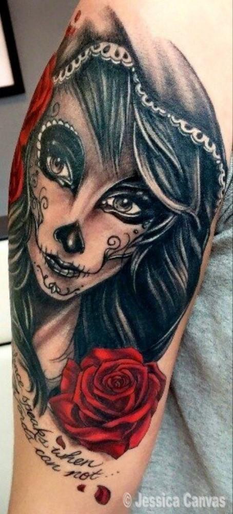 Sugar Skull Girl - Dia De Los Muertos