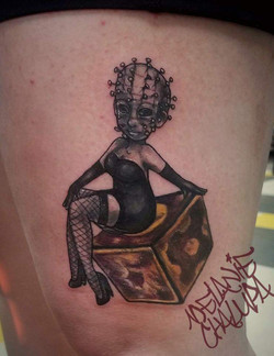Hellraiser_ Pinhead as Pinup_ Colored Sp
