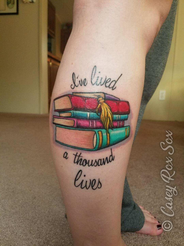 I've lived a thousand lives book stack