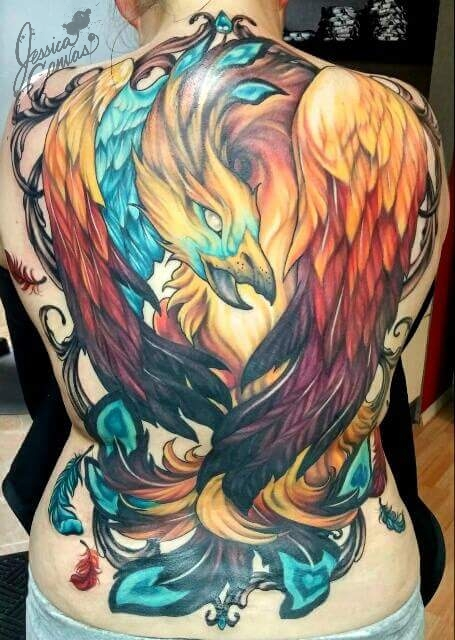Phoenix Back Piece Phoenix life cycle