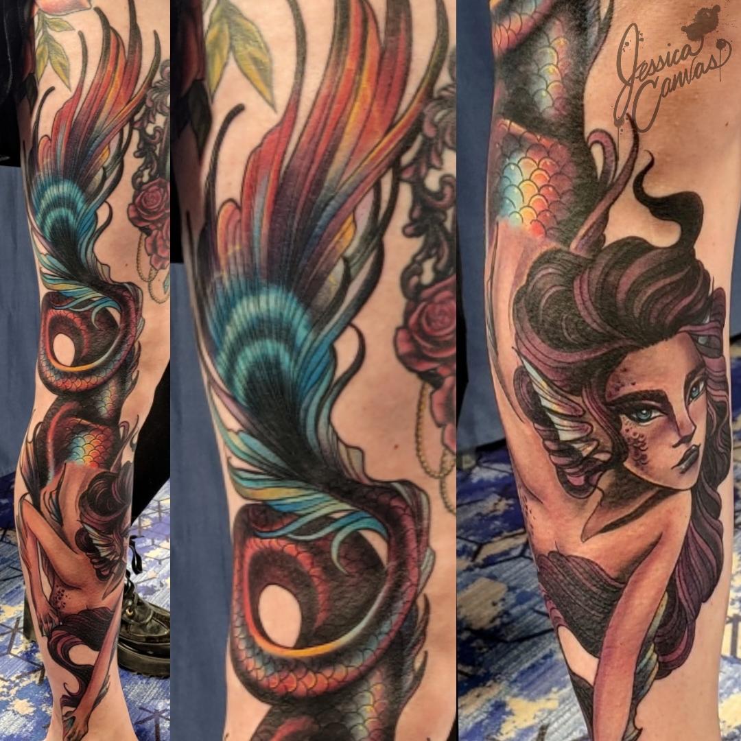 Full Leg Siren Queen Gothic_