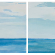 Horizon Line Blue