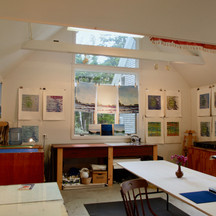 Heliker-Lahotan Foundation, Great Cranberry Island, Maine/open studio