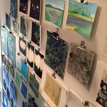 studio studies wall