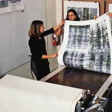 Tesserae printing at Center for Printmaking