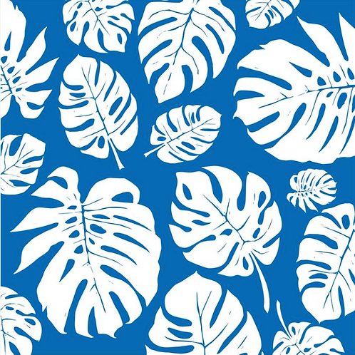 Blue and White Palm