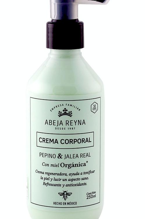 Crema Corporal Orgánica Pepino y Jalea Real