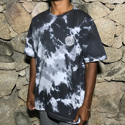 CAMISETA TIE DYE GLOBAL CAT BLACK