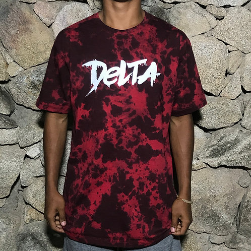 CAMISETA TIE DYE FRESH PAINT MARBLE RED