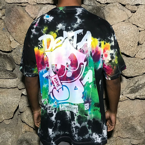 CAMISETA TIE DYE GLOBAL CAT RAINBOW