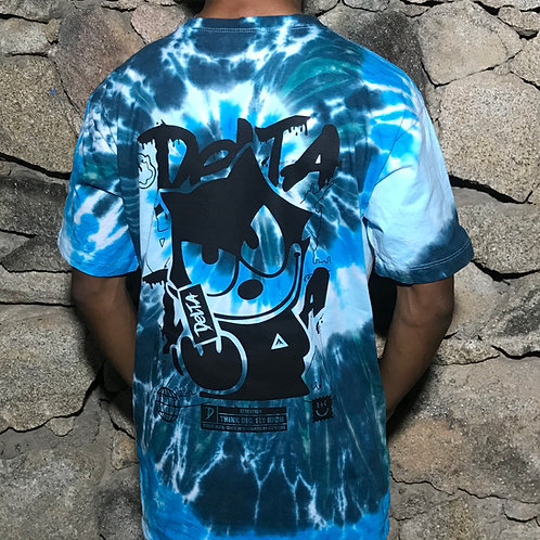 CAMISETA TIE DYE GLOBAL CAT OCEAN