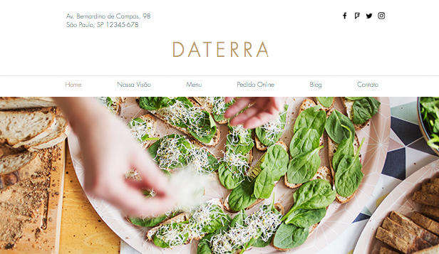Mais Usados website templates – Restaurante Vegetariano