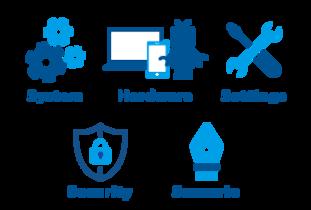 システム、ハードウェア、セッティング、セキュリティ、シナリオ