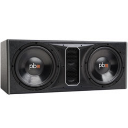"""PowerBass Autosound - 12"""" Dual Loaded 4 Ohm Loaded Subwoofer Enclosure, 1100W"""