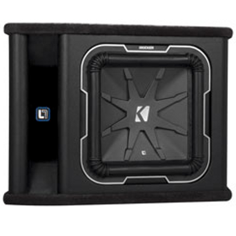 Kicker(R) - 12in. Single L7 Subwoofer Vented Enclosure, 2 Ohm