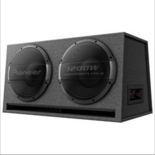 "Pioneer Electronics - 12"" Dual Ported Active Subwoofer Enclosure, Built-in amp"
