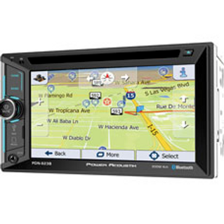 Power Acoustik - 6.2-Inch LCD Touchscreen 2DIN DVD, CD/MP3 Car Stereo w/ GPS & B