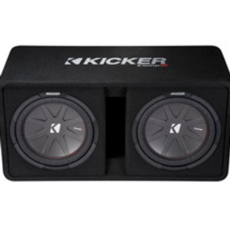 "Kicker(R) - 12"" Dual CompR (R) 2 Ohm Loaded Subwoofer Enclosure, 2000W/ 1000W(R"