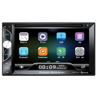 Power Acoustik - 6.2-Inch LCD Screen 2DIN DVD, CD/MP3 Car Stereo with Bluetooth(