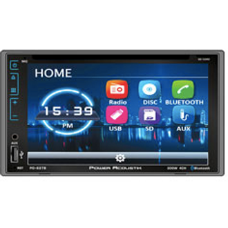 Power Acoustik - 6.2-Inch LCD Touchscreen 2DIN DVD, CD/MP3 Car Stereo with Bluet