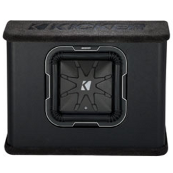 Kicker(R) - 10in. Single L7 Subwoofer Thin-Profile Vented Enclosure, 2 Ohm