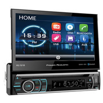 Power Acoustik - 7-Inch LCD Screen 1DIN DVD, CD/MP3 Car Stereo with Bluetooth(R