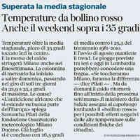 Corriere della Sera, 2 agosto 2018