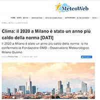 Meteoweb, 1 gennaio 2021