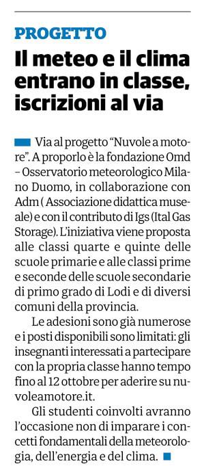 Il Cittadino, 20 settembre 2018