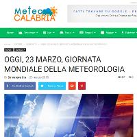 Meteocalabria.net, 23 marzo 2018 [CLICCA PER LEGGERE]