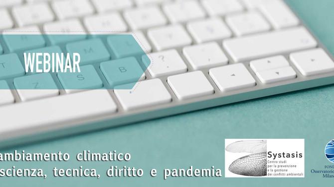Il cambiamento climatico tra scienza, tecnica, diritto e pandemia
