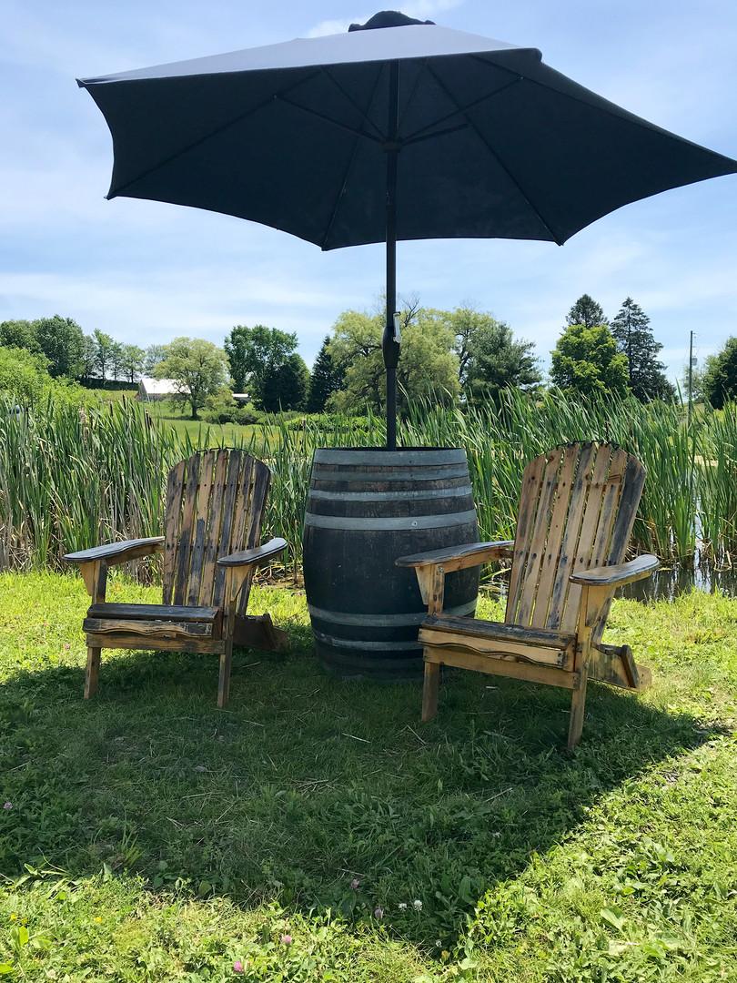 Pond-Side Seating