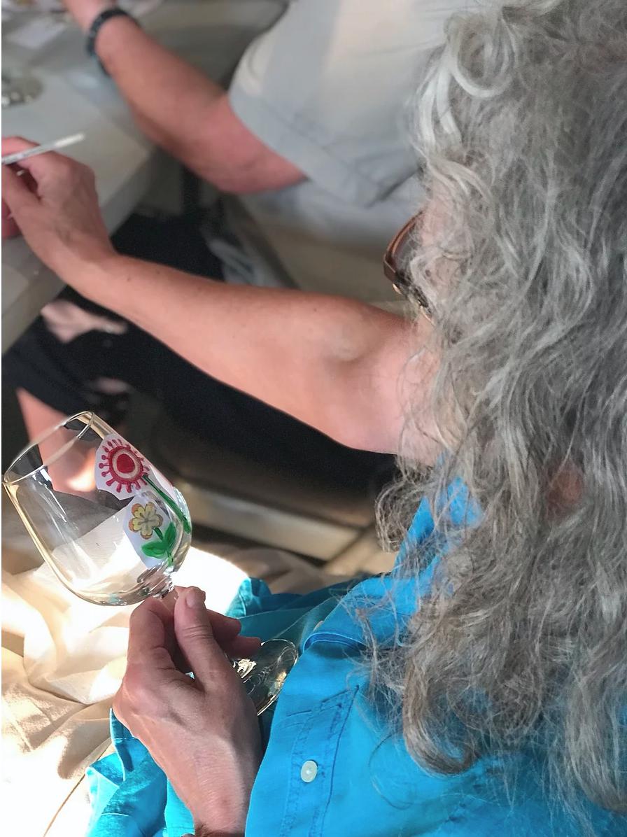 Wine Glass - Wild Flowers