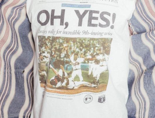 Atlanta Braves Newspaper T Shirt