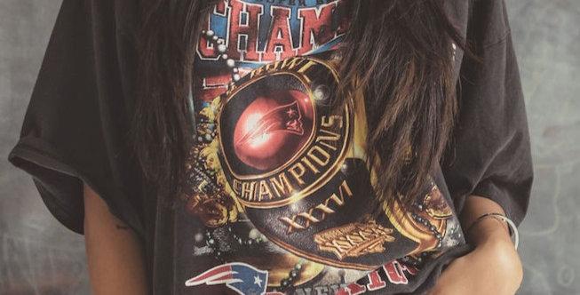 New England Patriots Super Bowl XXVI Champions Crewneck T Shirt