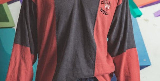 Chicago Bulls Collared Long Sleeve T shirt