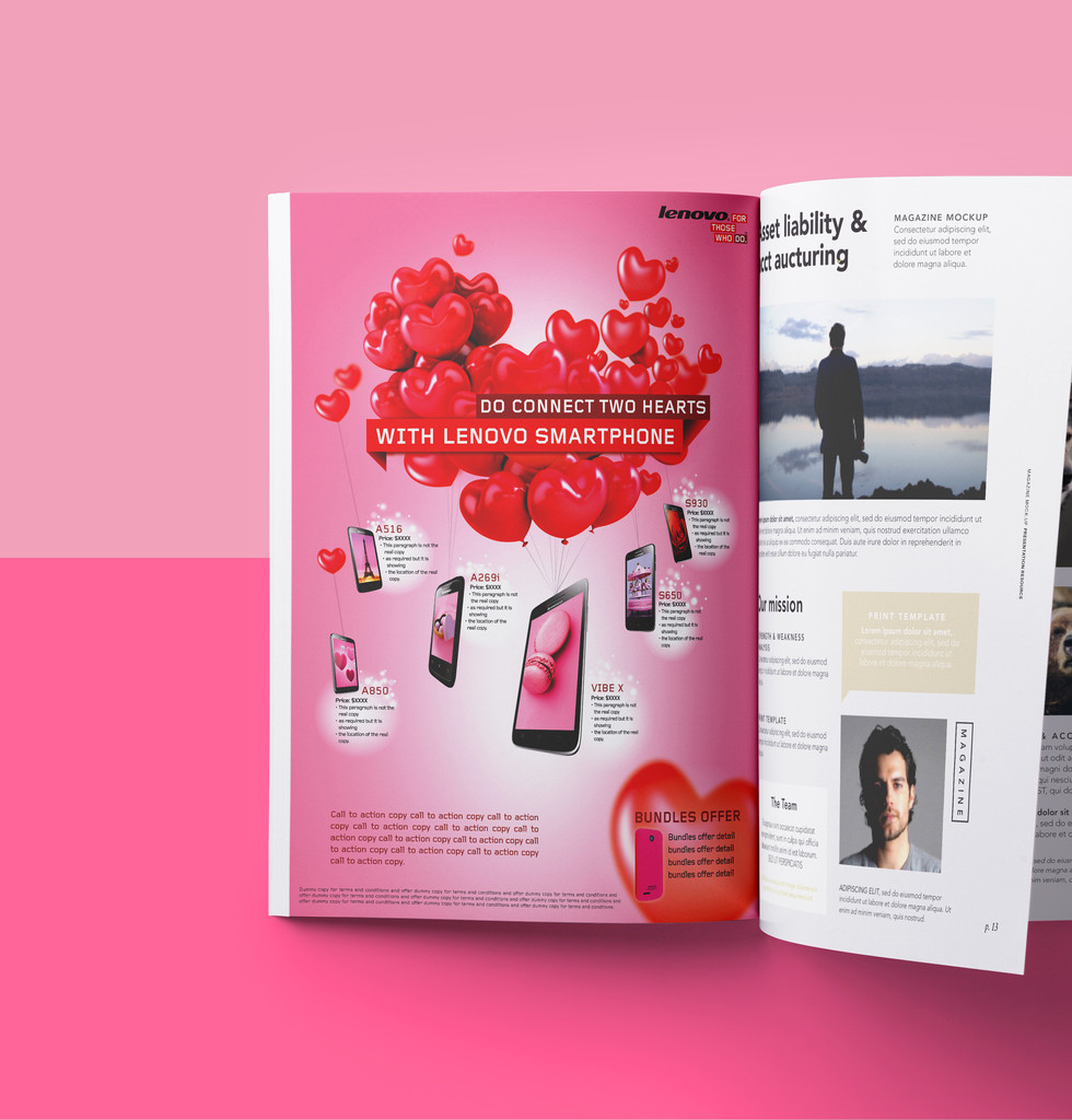 Lenovo Smart Phone Valentine's Day Campaign