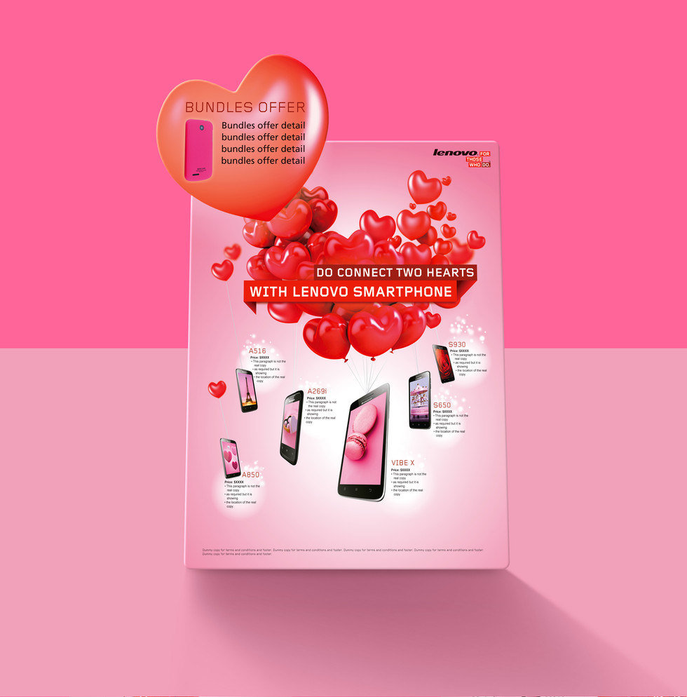 Lenovo Smart Phone Valentine's Day Campaign