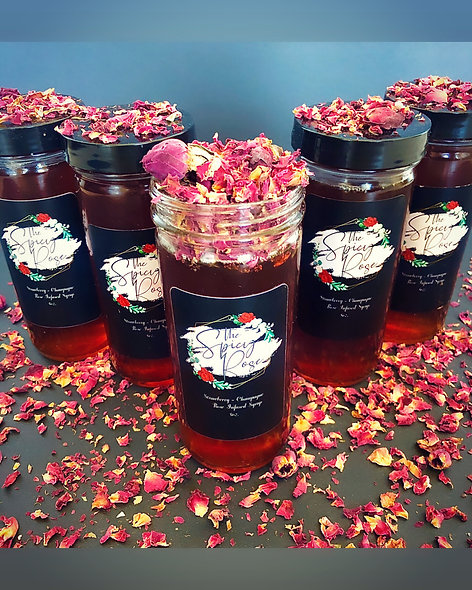 Strawberry-Champagne-Rose Infused Syrup