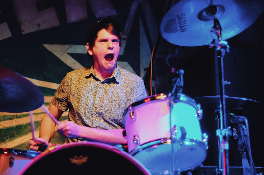 Intense drummer.