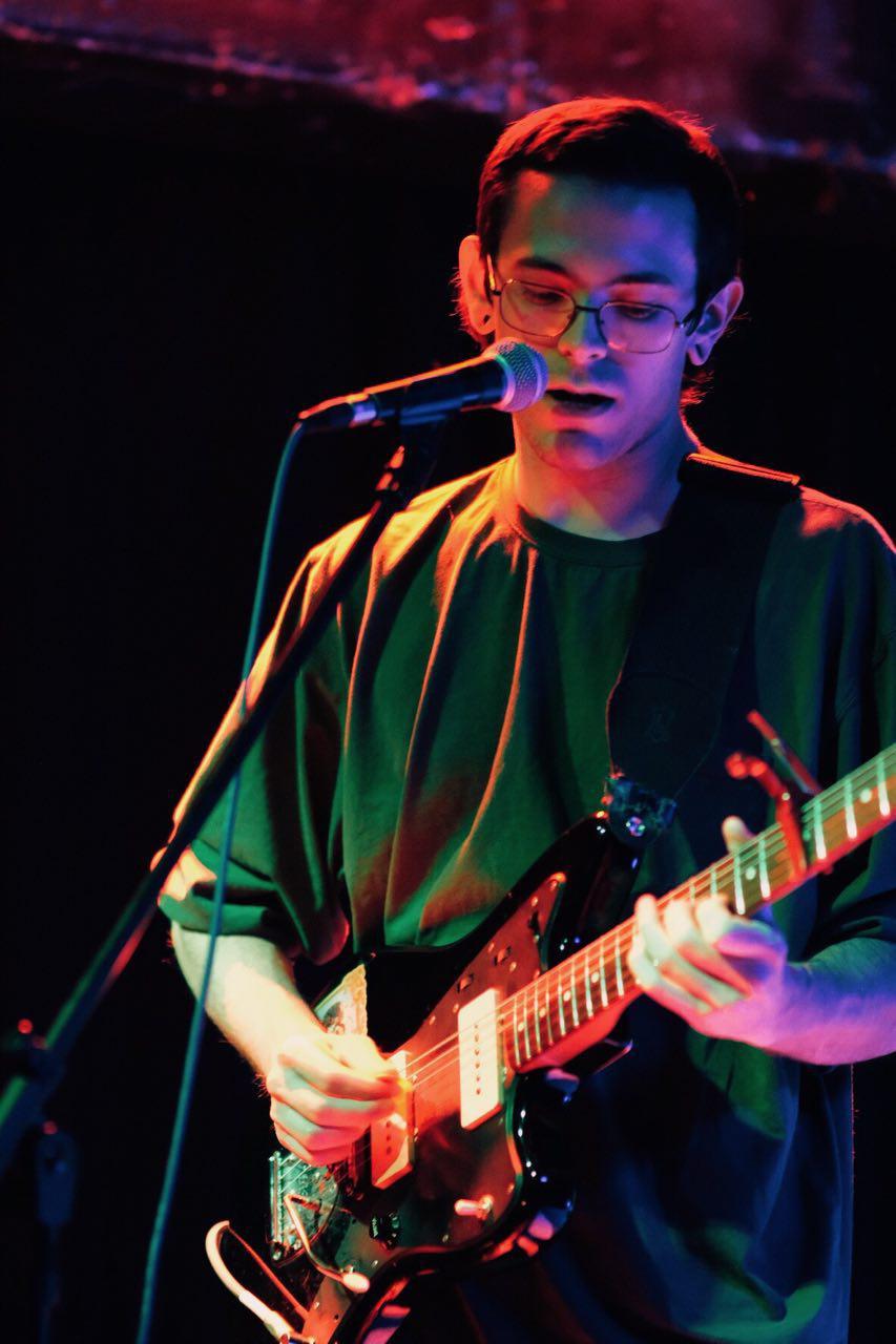Guitarist playing smooth.