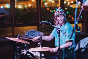 Drummer grooves.
