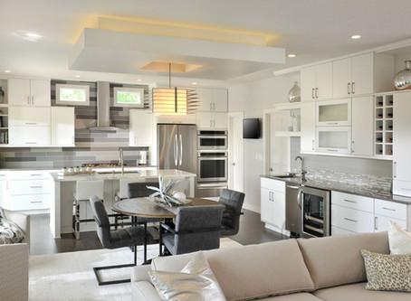 Scenic Circle - Contemporary White Kitchen Remodel