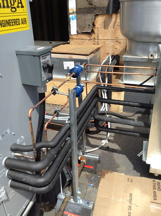 Air hander and condenser piping