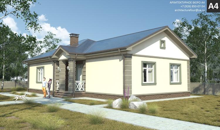 Проект индивидуального жилого дома 113м2.